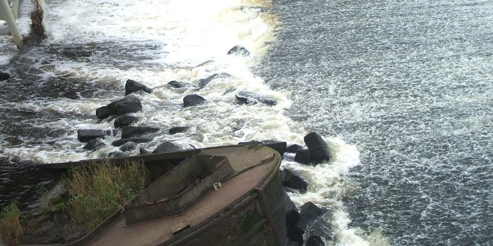 Boat in the River Calder
