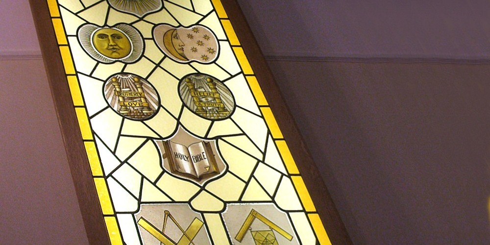 Freemason Stained Glass